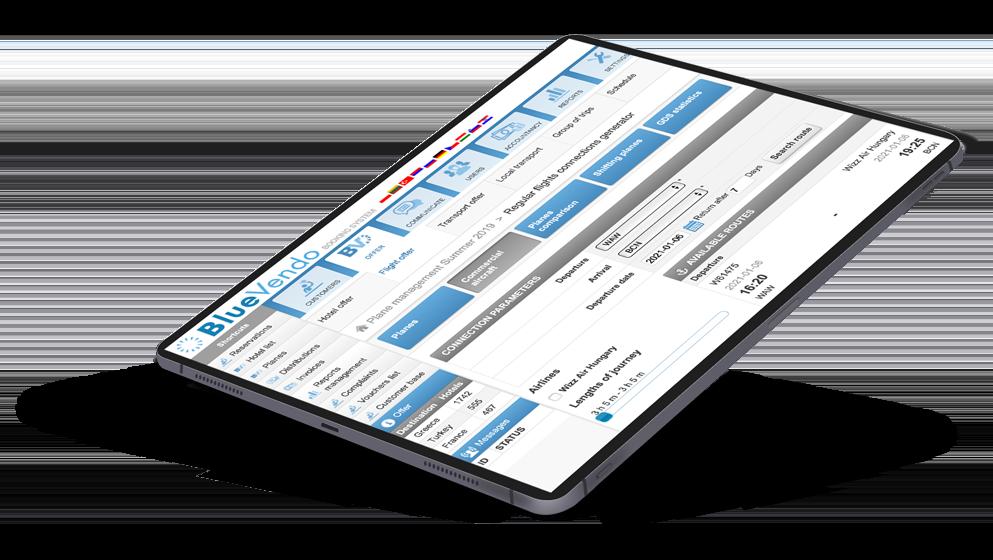 BlueVendo CMS tablet
